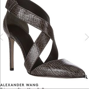 Authentic Alexander Wang Snakeskin Marcelle Pumps